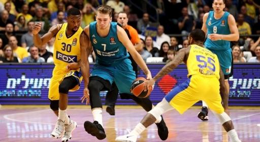 Трима скаути от НБА следиха Дончич срещу Барселона