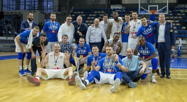 Галерия от триумфа на Левски Лукойл в Балканската лига