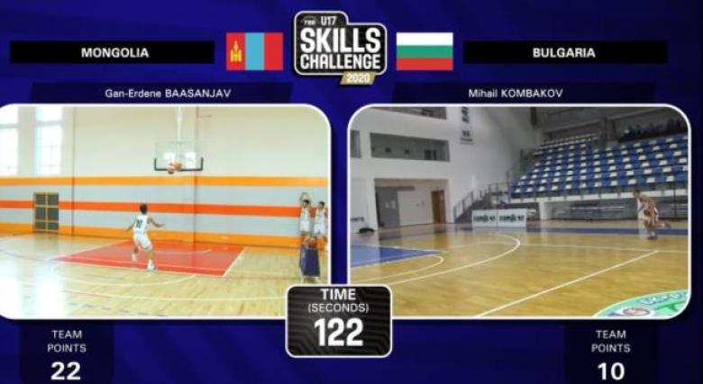 България ще участва в квалификациите за FIBA U15 Skills Challenge 2021
