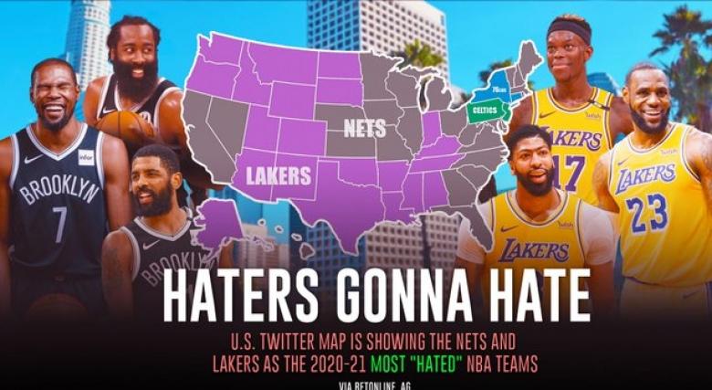 Лейкърс и Бруклин - най-мразени в НБА
