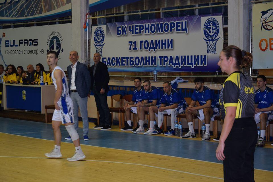 Йордан Колев: Радвам се, че в Бургас има пак мъжки баскетбол на висота в елита