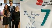 Лука Дончич дари шампионския потник в музея на Дражен Петрович