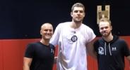 Везенков тренира здраво в пълна екипировка на Бруклин (видео + снимки)